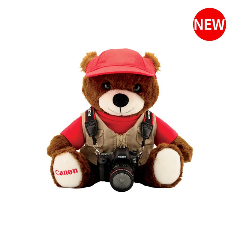 佳能 毛绒小熊及EOS 5D Mark IV相机微缩模型
