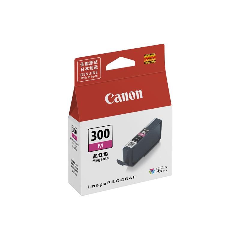佳能(Canon)PFI-300 M 品红色墨盒 (适用于PRO-300)