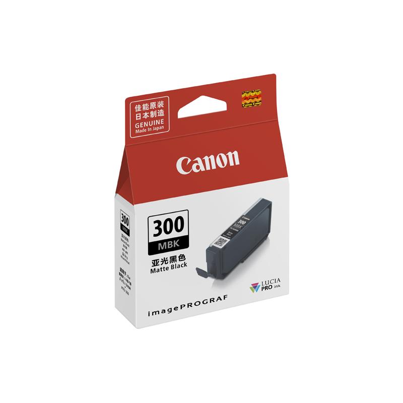 佳能(Canon)PFI-300 MBK 亚光黑色墨盒 (适用于PRO-300)