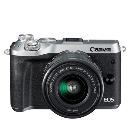 官方翻新品-EOS M6 银色套机 EF-M 15-45mm f/3.5-6.3 IS STM