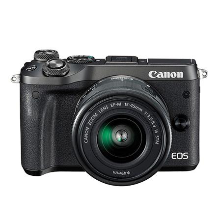 官方翻新品-EOS M6 黑色套机 EF-M 15-45mm f/3.5-6.3 IS STM