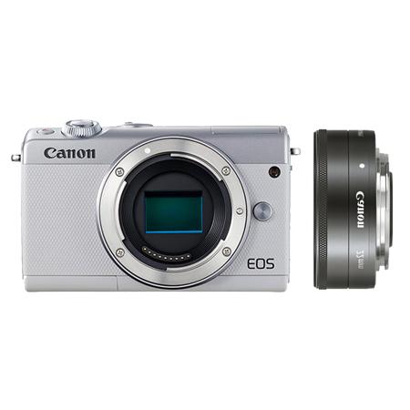 EOS M100 白色机身+EF-M 22mm f/2 STM 银色