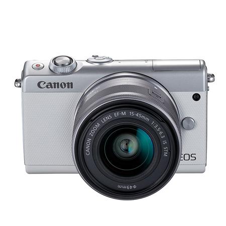 EOS M100 白色单头套机 EF-M 15-45mm f3.5-6.3 IS STM