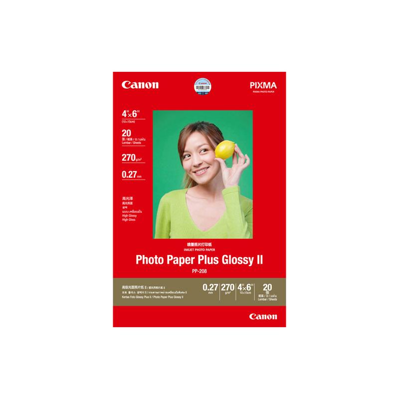 高级光面照片纸PP-208 4×6英寸(20张/包)