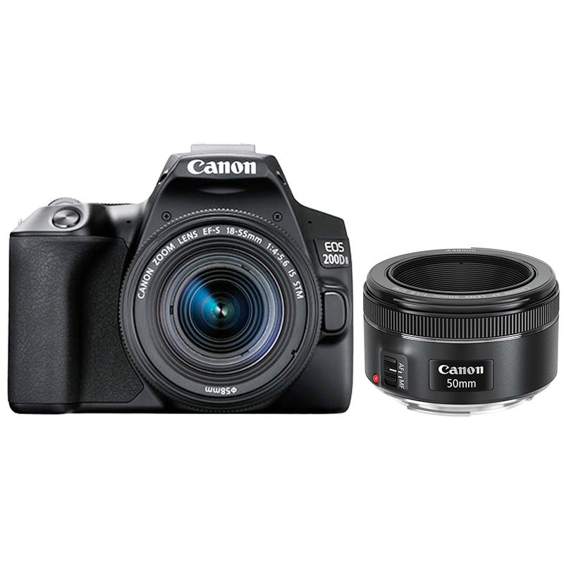 EOS 200D II(黑)18-55+EF 50mm f/1.8 STM