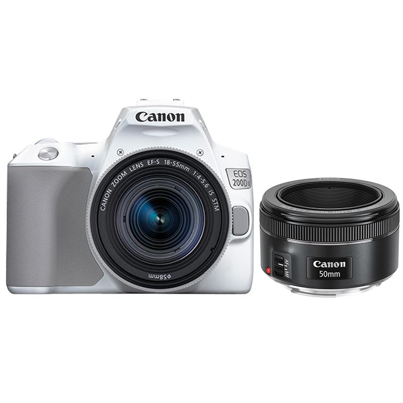 EOS 200D II(白)18-55+EF 50mm f/1.8 STM