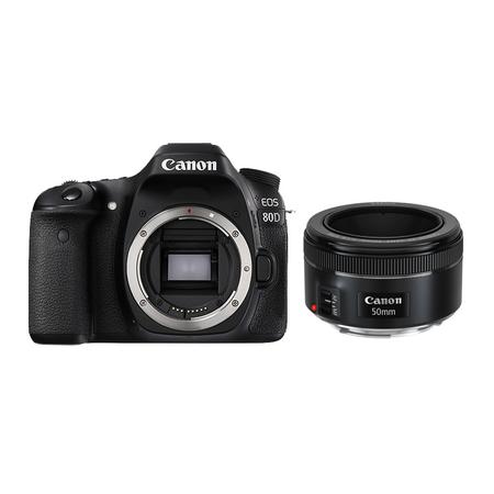 官方翻新品-EOS 80D 机身+EF 50mm f/1.8 STM