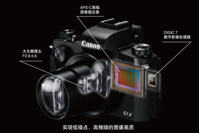 APS-C畫幅與DIGIC 7,帶來精細高畫質